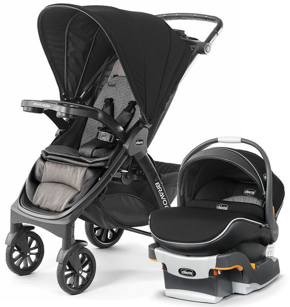 Chicco Bravo Primo + KeyFit 30 Zip Air Travel System - Allegro/Q Collection