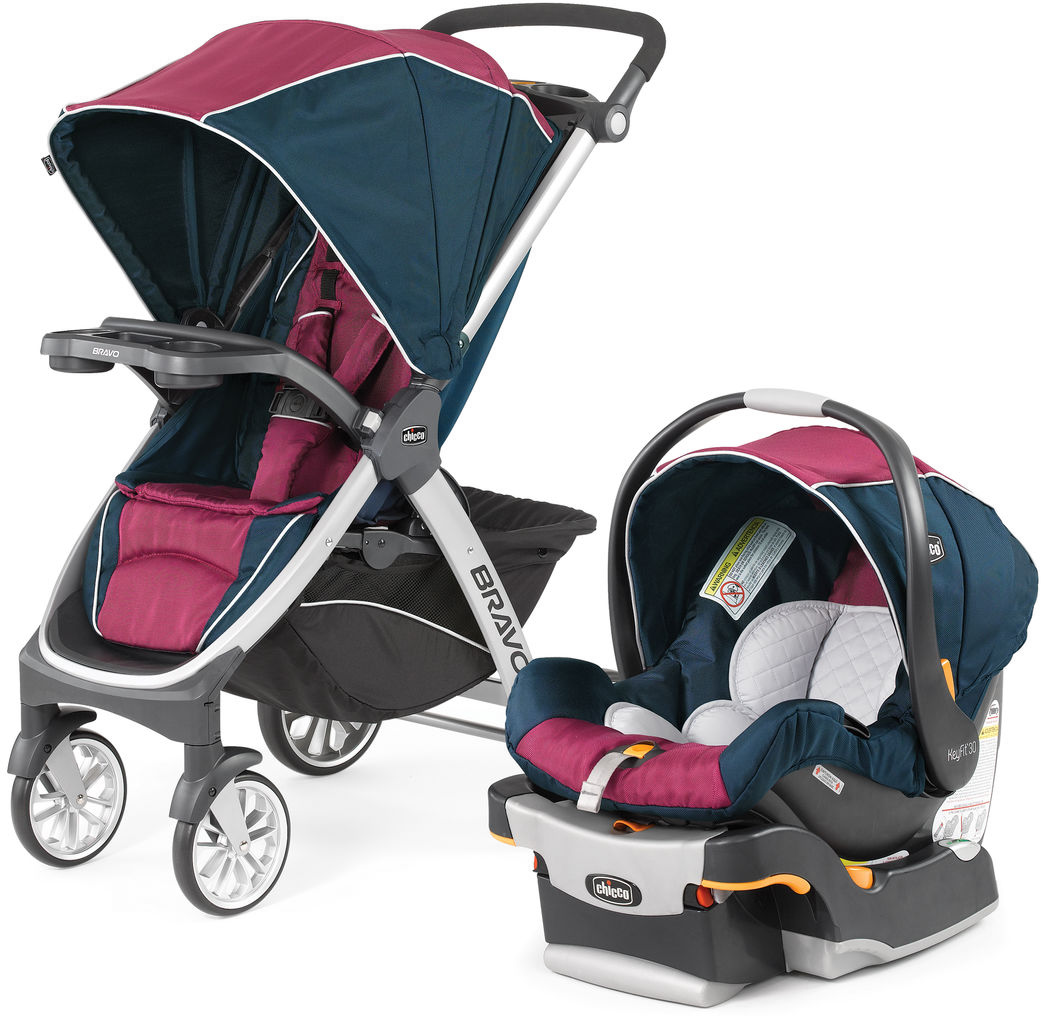 Chicco Bravo Trio Travel System - Blackberry