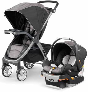 Chicco Bravo Trio Travel System - Meridian (Brown)