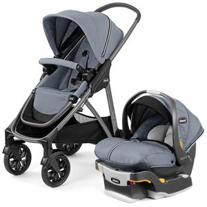 Chicco Corso Modular Travel System with KeyFit 30 Zip Infant Car Seat - Silverspring