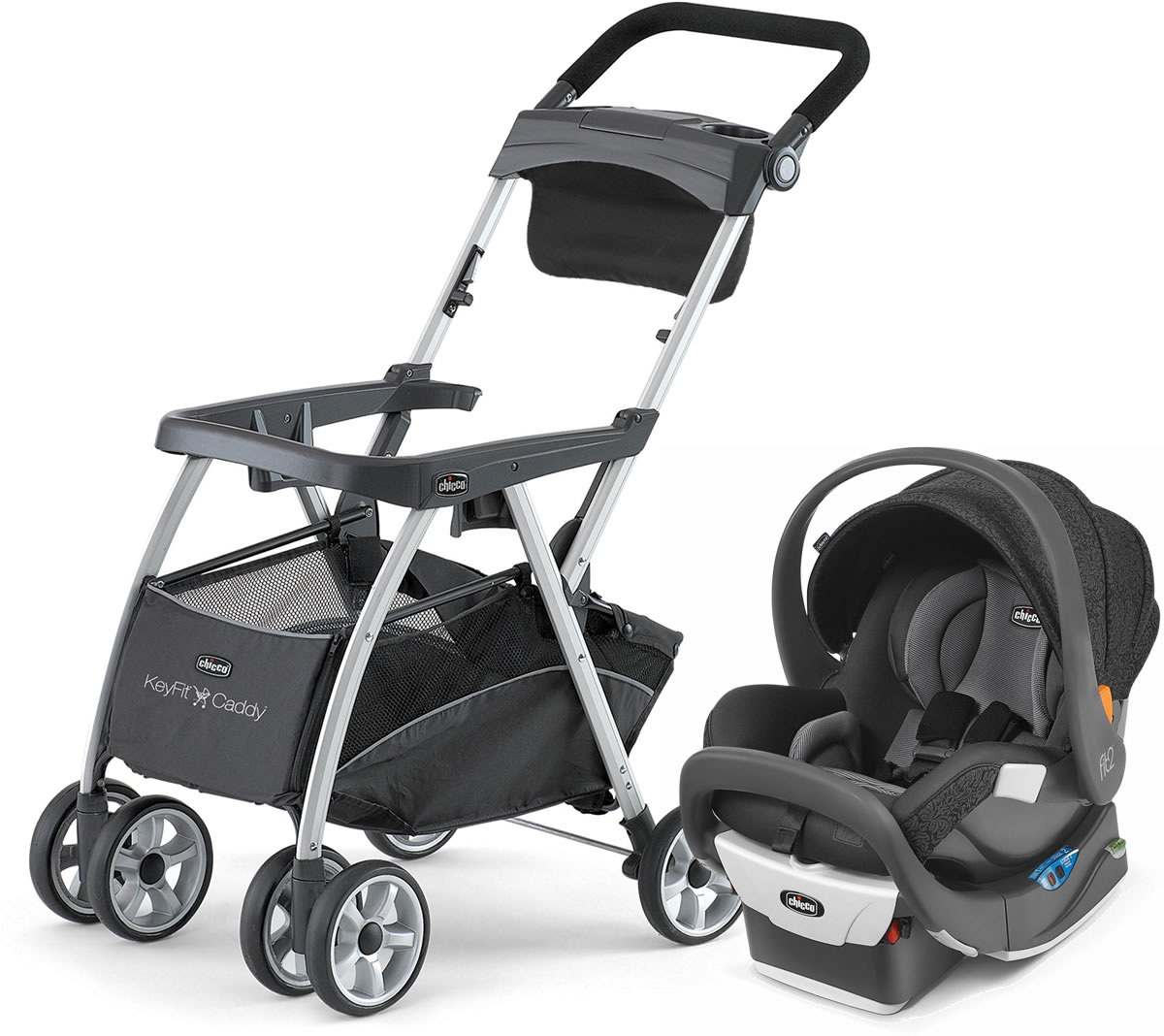 Chicco KeyFit Caddy + Fit2 Rear-Facing Infant & Toddler C...