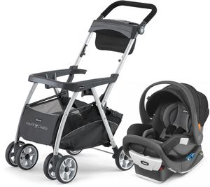 Chicco KeyFit Caddy + Fit2 Rear-Facing Infant & Toddler Car Seat - Fleur