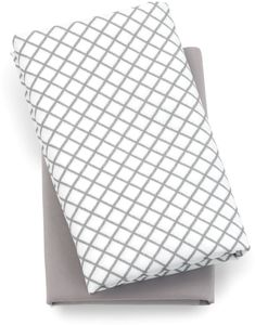 Chicco Lullaby Playard Fitted Sheet, 2-Pack - Grey Diamond