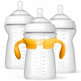 Chicco NaturalFit 11 oz Bottles, 3-Pack - 6M+
