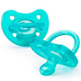 Chicco Soft Silicone Orthodontic Pacifiers - Blue - 4M+