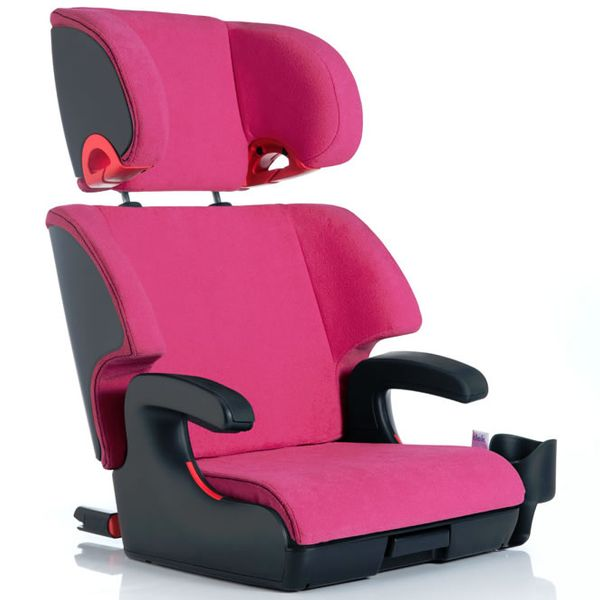 Clek Oobr High Back Belt Positioning Booster Car Seat - Flamingo (Albee Baby Exclusive)