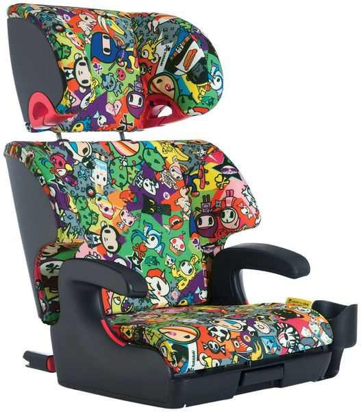 Clek Oobr High Back Belt Positioning Booster Car Seat - Tokidoki All Over