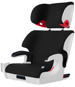 Clek 2020 Oobr High Back Belt Positioning Booster Car Seat - White Pitch Black (C-Zero Plus)