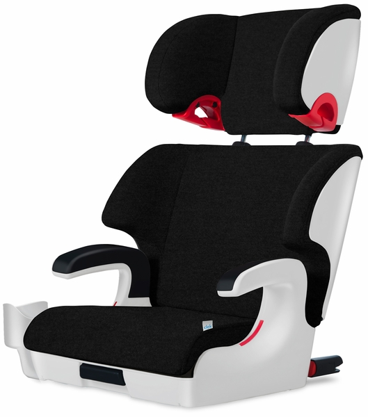 Clek Oobr High Back Belt Positioning Booster Car Seat - White Carbon Jersey Knit (Albee Exclusive)