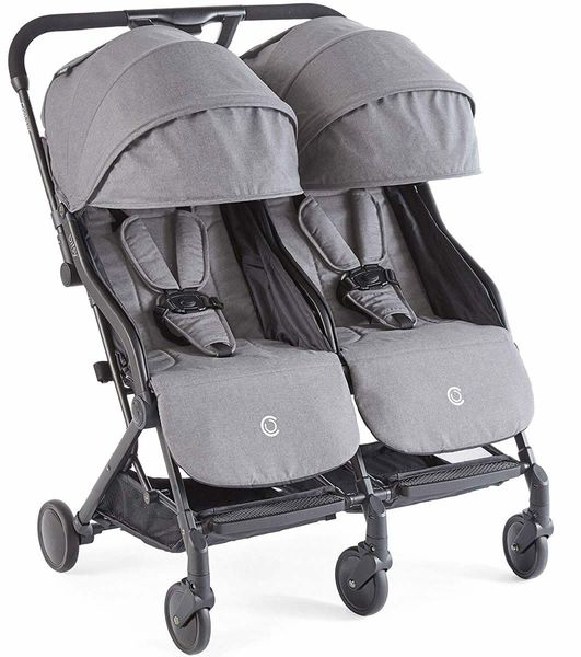 Contours Bitsy Double Stroller - Granite Gray