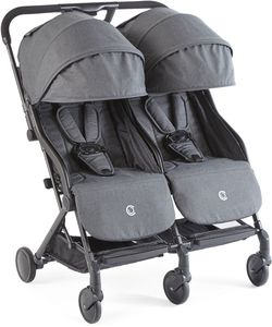 Contours Bitsy Double Stroller - Midnight Grey