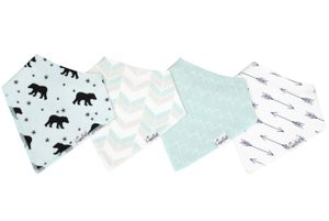 Copper Pearl Baby Bandana Bibs, 4 Pack - Archer
