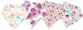Copper Pearl Baby Bandana Bibs, 4 Pack - Bloom