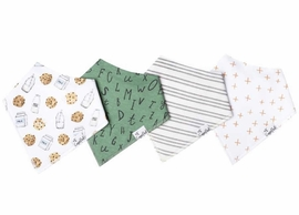 Copper Pearl Baby Bandana Bibs, 4 Pack - Chip