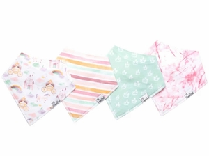 Copper Pearl Baby Bandana Bibs, 4 Pack - Enchanted