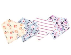 Copper Pearl Baby Bandana Bibs, 4 Pack - Morgan