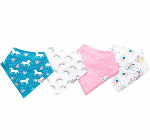 Copper Pearl Baby Bandana Bibs, 4 Pack - Whimsy