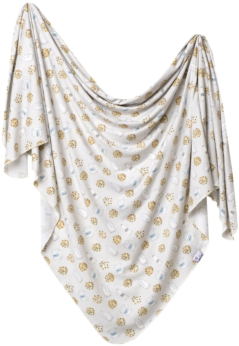 Copper Pearl Knit Swaddle Blanket Chip