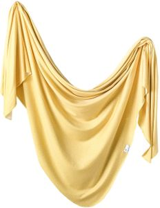 Copper Pearl Knit Swaddle Blanket - Marigold
