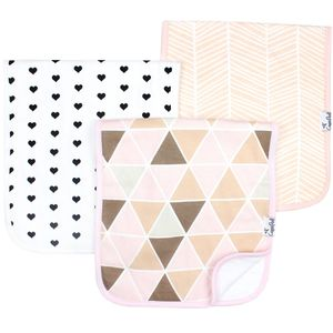 Copper Pearl Premium Burp Cloths, 3 Pack - Blush