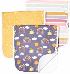 Copper Pearl Premium Burp Cloths, 3 Pack - Hope