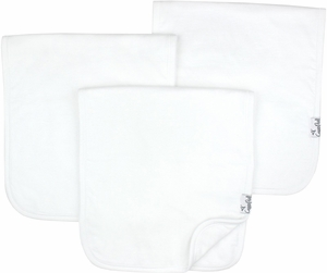 Copper Pearl Premium Burp Cloths, 3 Pack - White