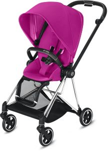Cybex Mios 2 Complete Stroller - Chrome/Black/Fancy Pink