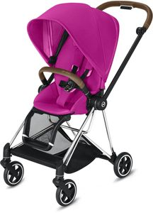 Cybex Mios 2 Complete Stroller - Chrome/Brown/Fancy Pink