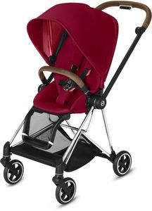 Cybex Mios 2 Complete Stroller - Chrome/Brown/True Red