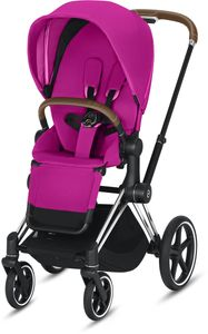 Cybex Priam 3 Complete Stroller - Chrome/Brown/Fancy Pink