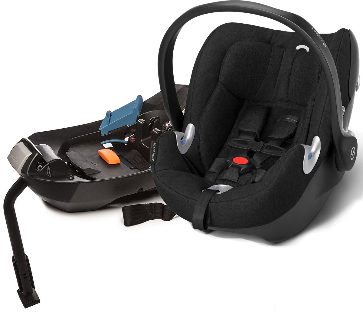 Cybex Aton Q Plus Infant Car Seat Black Beauty
