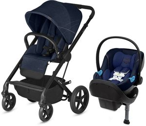 Cybex Balios S + Aton M SensorSafe Travel System - Denim Blue