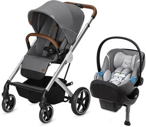 Cybex Balios S + Aton M SensorSafe Travel System - Denim Manhattan Grey