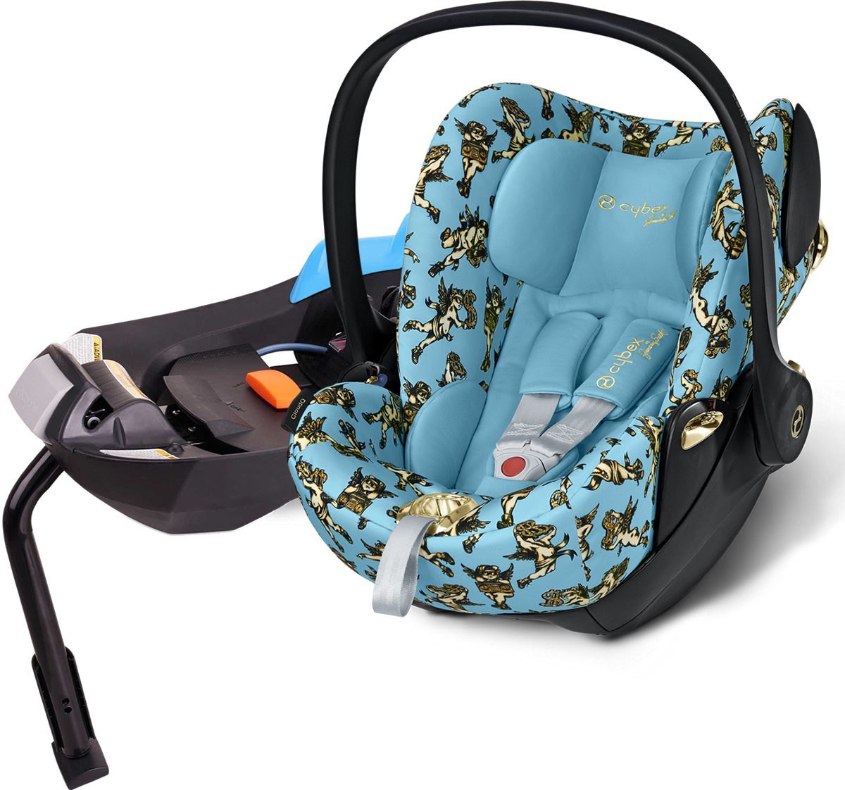 cybex cloud q infant car seat cherub blue. Black Bedroom Furniture Sets. Home Design Ideas