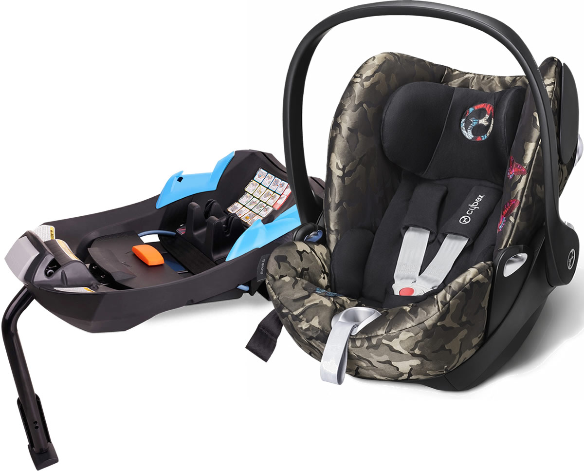 cybex 2016 cloud q infant car seat fashion edition butterfly. Black Bedroom Furniture Sets. Home Design Ideas