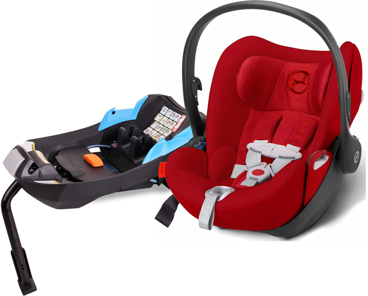 Avocent Platinum Cloud Q Infant Car Seat With Load Leg Base In Hot & Spicy Red