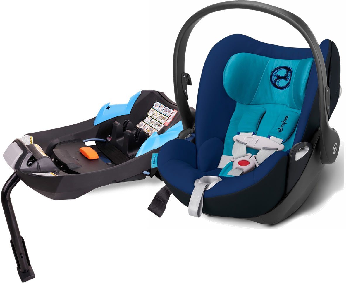 Avocent Platinum Cloud Q Infant Car Seat With Load Leg Base In True Blue