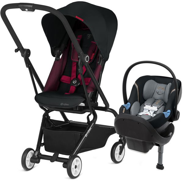 Cybex Eezy S Twist + Aton M Travel System - Victory / Pepper Black