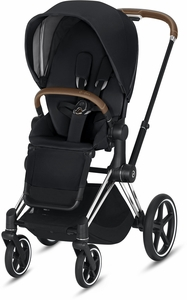 Cybex ePriam Stroller - Chrome/Brown/Black (Albee Exclusive)