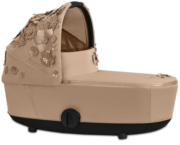 Cybex Mios Lux Carry Cot - Simply Flowers - Nude Beige