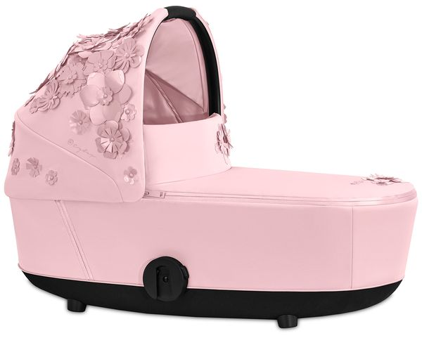Cybex Mios Lux Carry Cot - Simply Flowers - Pale Blush
