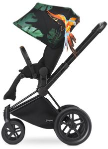 Cybex 2017/2018 Priam Lux All-Terrain Stroller - Birds of Paradise/Black
