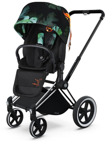 Cybex 2017/2018 Priam Lux All-Terrain Stroller - Birds of Paradise/Chrome
