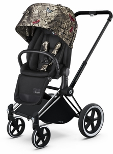 Cybex 2017/2018 Priam Lux All-Terrain Stroller - Butterfly/Chrome