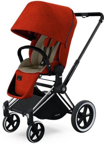 Cybex Priam Lux All-Terrain Stroller - Chrome / Autumn Gold