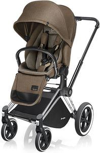 Cybex 2017/2018 Priam Lux All-Terrain Stroller - Chrome / Cashmere Beige