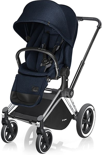 Cybex 2017/2018 Priam Lux All-Terrain Stroller - Chrome / Midnight Blue