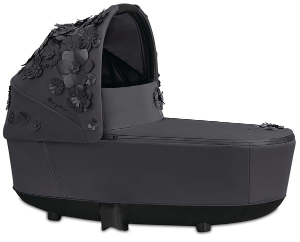 Cybex Priam Lux Carry Cot - Simply Flowers - Dream Grey