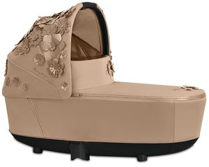 Cybex Priam Lux Carry Cot - Simply Flowers - Nude Beige