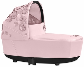 Cybex Priam Lux Carry Cot - Simply Flowers - Pale Blush